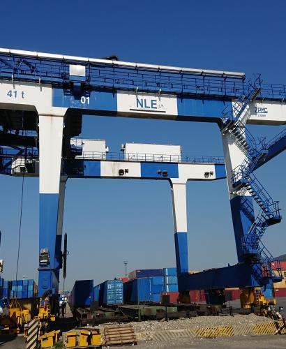 Капитально-восстановительный ремонт козлового контейнерного крана на рельсовом ходу RMG